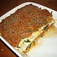 Lasagnes aux champignons et épinards