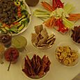 Buffet de Noël - Crackers variés et leurs sauces