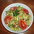 Salade de chou, sauce marocaine