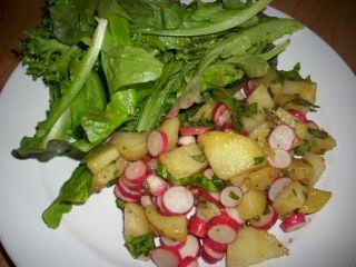 Salade mi crue mi cuite