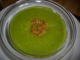 Soupe verte courge fenouil au curry et sésame