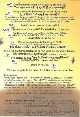 Ecofestival de Clion sur Indre - 2