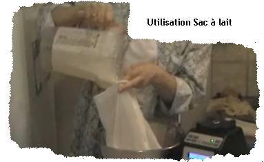 Utilisation sac à lait