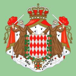 Drapeau princes Monaco