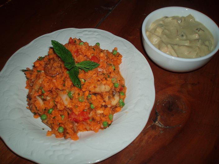 Biryani aux champignons - Sauce curry