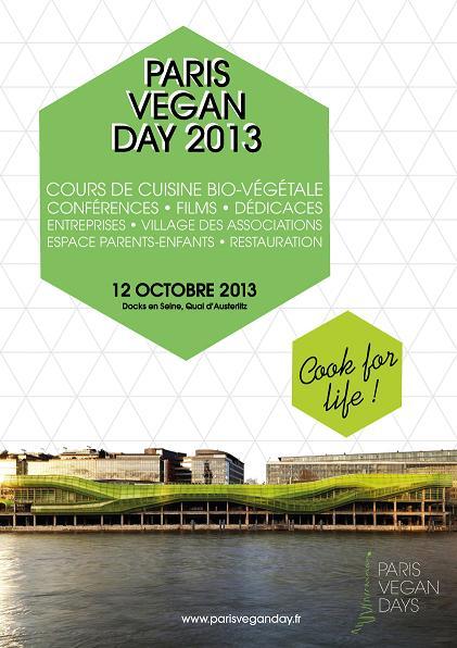 PARIS VEGAN DAY 2013 - Affiche réduite