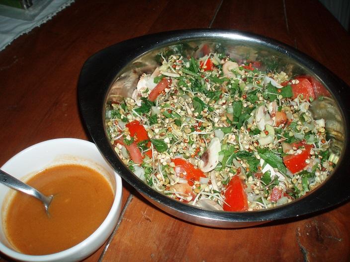 Salade de graines germées