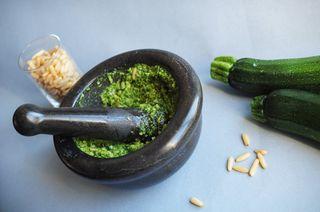 Pesto courgette