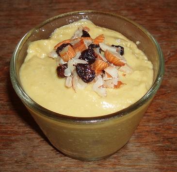 Crème anglaise Mangue-coco