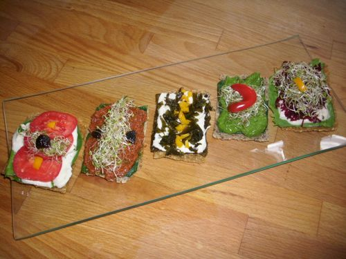 Canapés - crackers