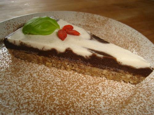 Tarte marbrée au chocolat