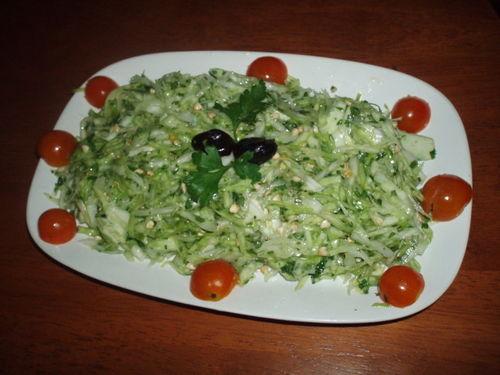 Salade de chou à la coriandre et au sarrasin